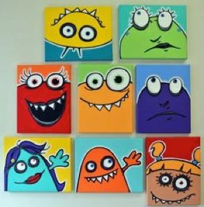 Painting: Moster Faces