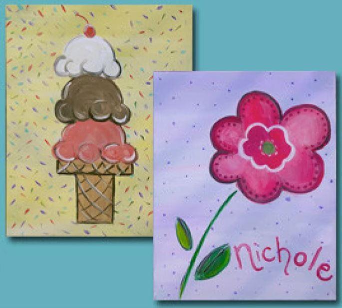 Painting: Flower or Ice Cream