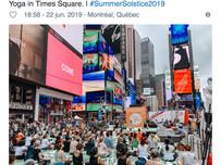 Saluda al Sol en Times Square