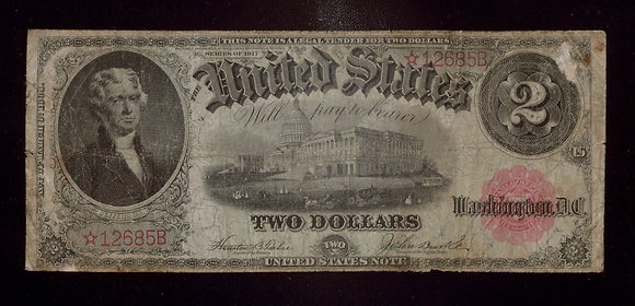FR. 57* 1917 $2 United States Note STAR Note