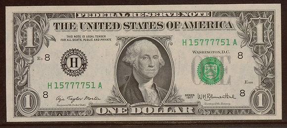 1977 $1 Federal Reserve RADAR Note (15777751)