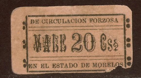 Morales, Cuernavaca, Mexico 20 Centavos