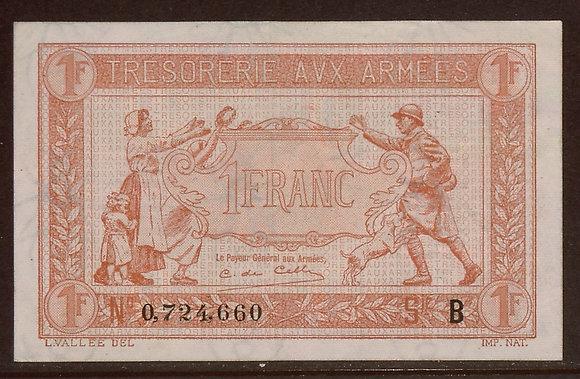 FRANCE 1917 1 Franc XF/AU