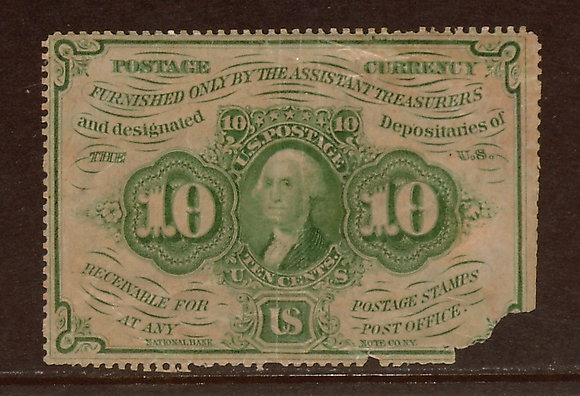 FR. 1241 1st Issue 10 cents Good