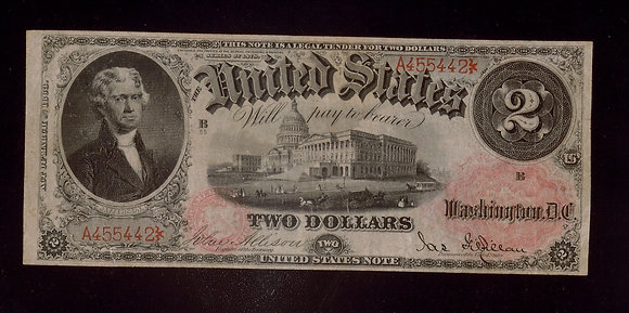 FR. 48 1878 $2 United States Note Very Fine
