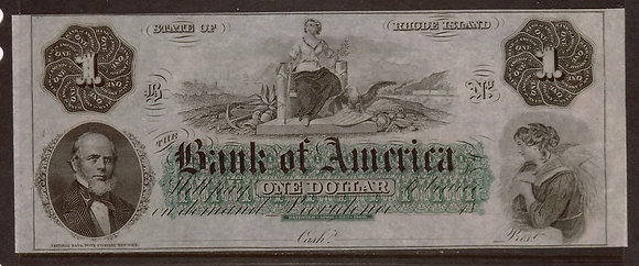 Providence, RI 1800's $1 UNC (Bank of America)