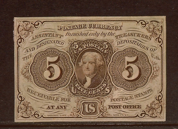 FR. 1230 1st Issue 5 Cents XF