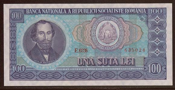 ROMANIA 1966 100 Lei UNC