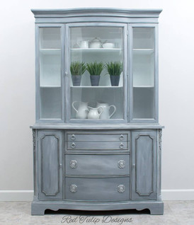 Blended Gray Duncan Phyfe China Cabinet