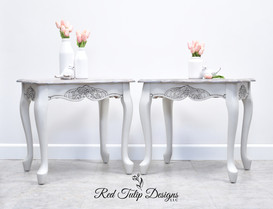 French Provincial Farmhouse End Tables