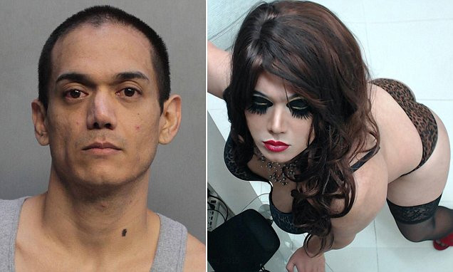 Photos from Deneumostier's Twitter page showed him wearing wigs, makeup, pantyhose, heels and dresses as he prepared for his late-night romps with different men