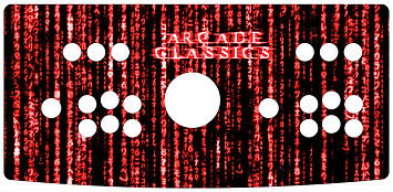 Red Source Code 2-Player Control Panel Art