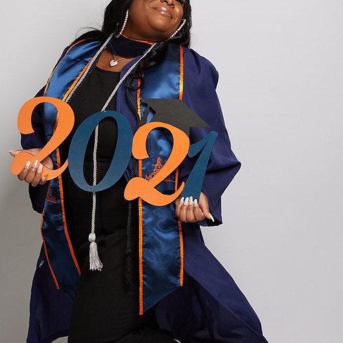 2022 Graduate Photo Prop Wood Sign Graduation