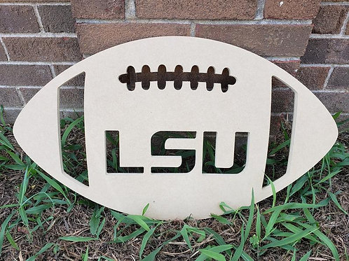 LSU Louisiana Wooden Football Door Hanger Alabama Georgia UGA Clemson Tennessee