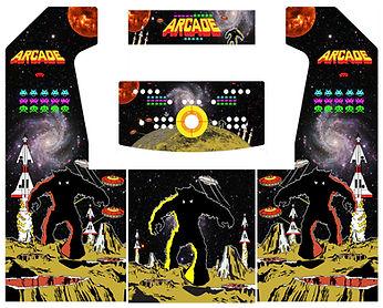 Retro Space 2-Player Upright Arcade Art