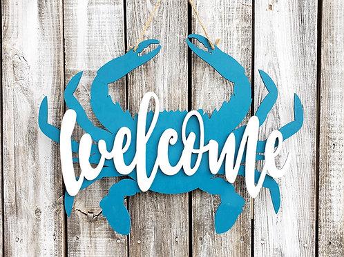Crab Welcome Door Hanger