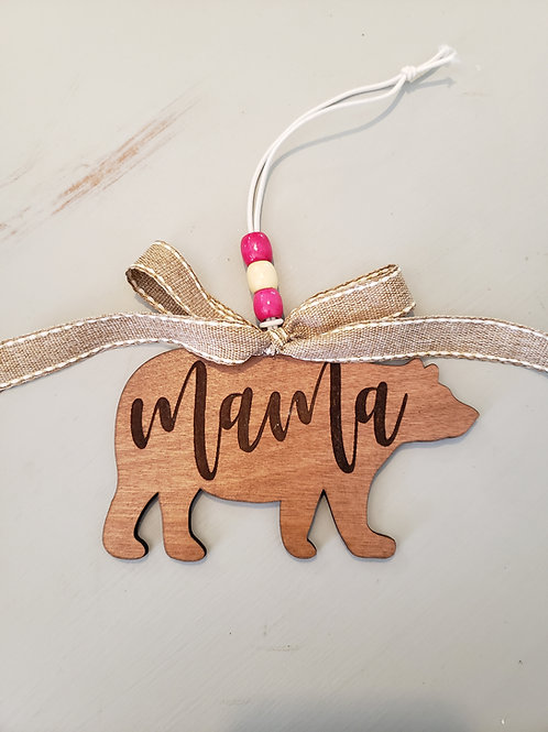 Mama Bear Car Charm Key Ring Mom Gift