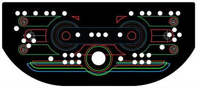 Retro Grid Control Panel Art