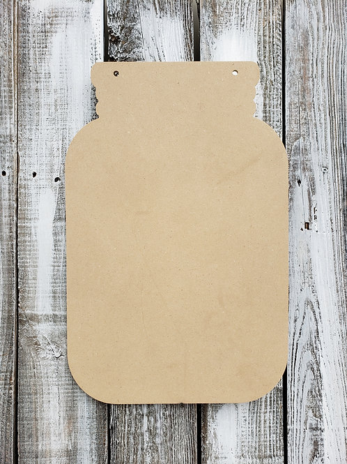 Mason Jar Wood Blank Cut Out