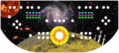 Retro Space Control Panel Art