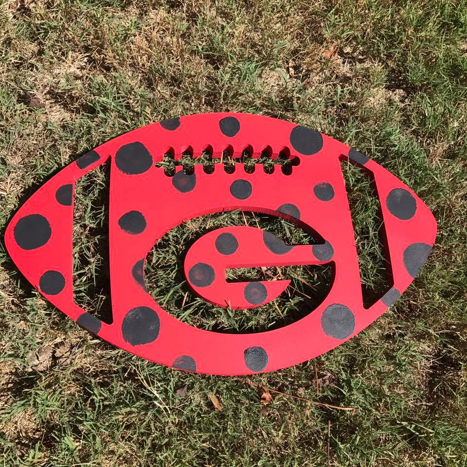 polka dot UGA football