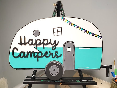 Wood Camper Door Hanger Blank DIY