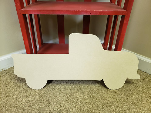 Wood Vintage Truck Blank Cut Out DIY