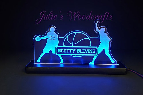 Basketball Custom Acrylic Name Sign Team or Coach Gift Trophy