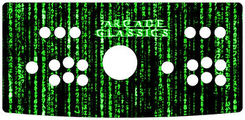 Green Source Code 2-Player Control Panel Art