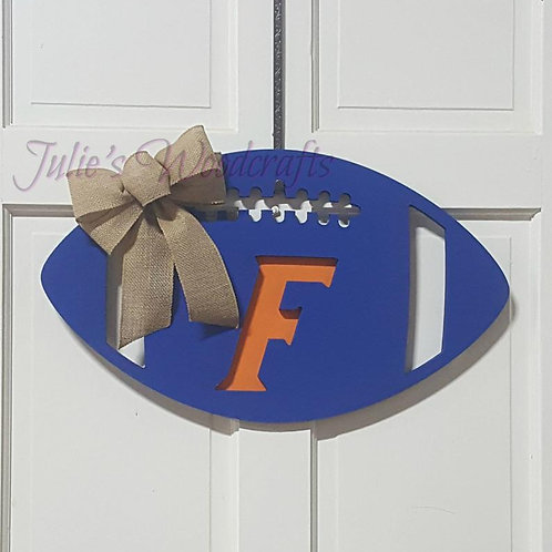Florida Gators Wooden Football Door Hanger Ohio State Alabama Georgia Tennessee