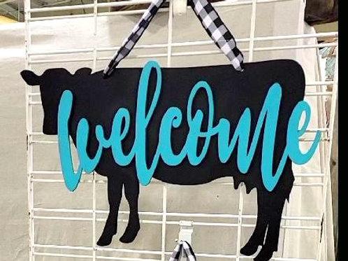 Horse Cow Goat Welcome Door Hanger