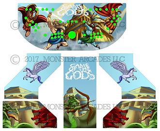 Game of the Gods Arcade Art