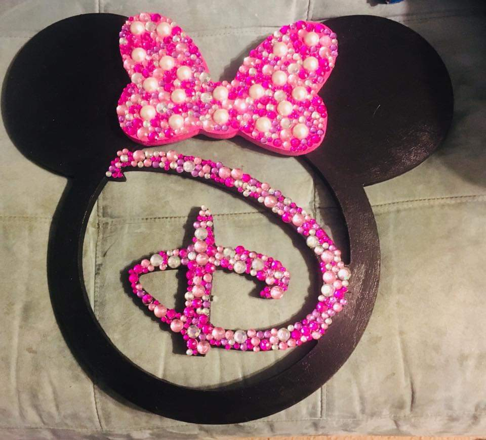 Mickey with jewels and sequins
