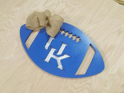 University of Kentucky Wooden Football Door Hanger Alabama Georgia UGA Green Bay