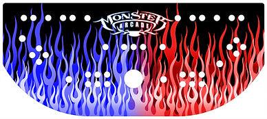Red Vs. Blue Flames Control Panel Art