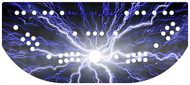 Blue Lightning Control Panel Art