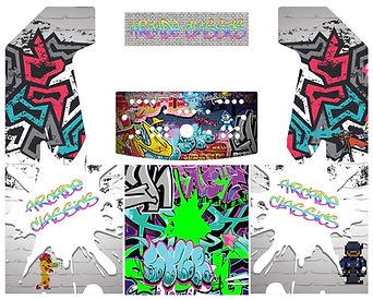 Grffiti 2-Player Upright Arcade Art