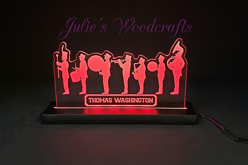 Marching Band Custom Acrylic Name Sign