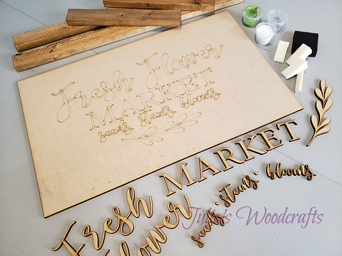Framed Fresh Flower Market DIY sign