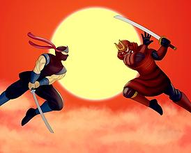 Ninja Samurai Arcade Art