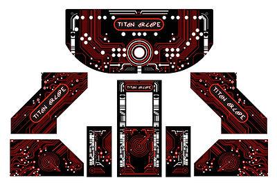 Red Grid Arcade Art