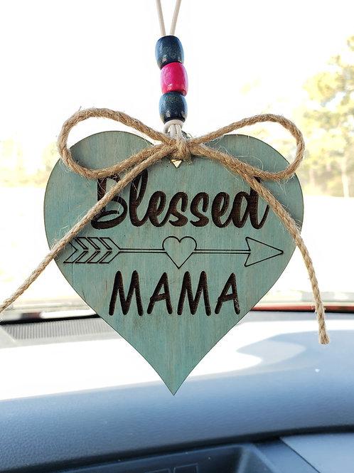 Blessed Mama Car Charm Key Ring Mom Gift