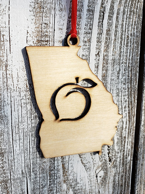 Georgia Peach Ornament