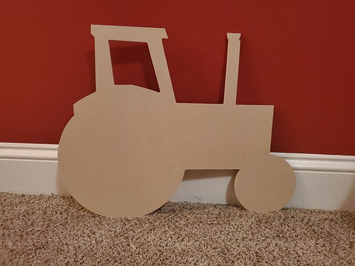 Wood Tractor Cut Out Blank DIY