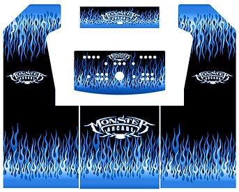 Blue Flames 2-Player Upright Arcade Art