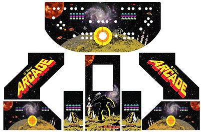 Retro Space Monster Arcade Art