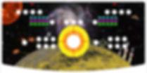 Retro Space Arcade Control Panel