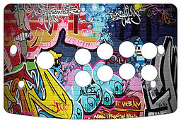 Graffiti 1-Player Control Panel Art