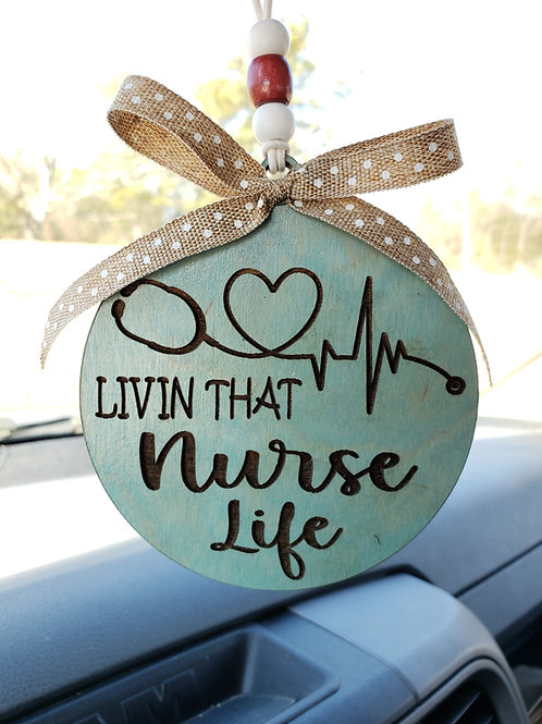 Nurse Life Car Charm Key Ring Gift