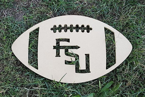 Florida State FSU Wooden Football Door Hanger Alabama Georgia UGA Green Bay Tenn